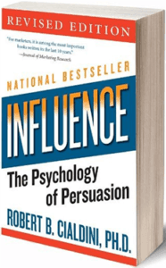 robert cialdini book titled influence: the psychology of persuasion